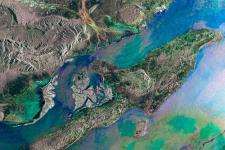 Iran's Qeshm Island seen from space by ESA's Envisat satellite.
