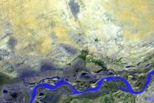 Timbuktu, Mali seen by ASTER image aboard the NASA Terra spacecraft