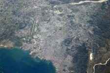Haiti seen from space