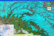 Snow Cover Extent on 2 January 2013 monitored using MODIS data.
