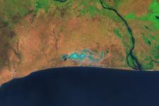 Ghana's Songor Lagoon seen from space (2000)