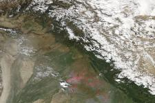 Fires in northwestern India in 2005 seen from Space.