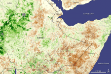 Drought in Ethiopia in 2008, seen from Space by SPOT Vegetation satellite