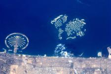 Dubai seen from Space by ESA astronaut André Kuipers on the ISS.