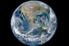 Earth image taken by NASA satellite