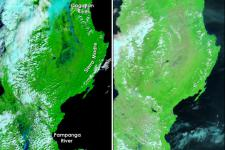 Satellite image shows floods in the Philippines