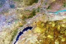 Satellite image of Zimbabwe, taken by Envisat