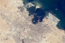 Image from ISS of Doha