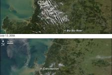 Satellite image of flooding in Chile