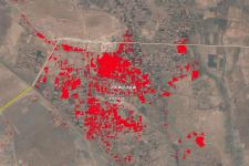 satellite images to track flooding in Afghanistan