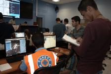 Operators and students test GeoSHAPE in the simulated response to a hurricane