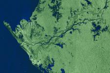 Gabon captured by ESA's Envisat radar sensor in 2005