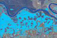 Flood delineation map provided by Sentinel-1A