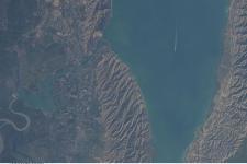 Azerbaijan's Mingachevir Reservoir seen from space