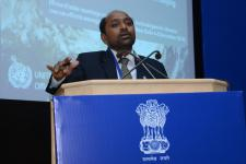 UN-SPIDER's expert, Dr Shirish Ravan, addressed the use of Space-based info