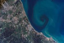 Satellite imagery of the northeastern coast of Algeria