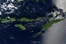 Indonesian Lesser Sunda Islands seen from space