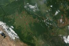 True-color MODIS image of Bolivia (Image: NASA)