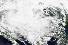 Yvette storm in Southeast Europe and Balkans in 2014 (Image: NASA)