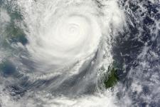 Typhoon approaching China (Image: NASA)