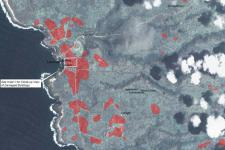 Map showing potentially damaged zones in western Tanna Island, Vanuatu (Image: UNITAR/UNOSAT)