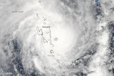 2015 Tropical Cyclone Pam over Vanuatu seen by MODIS (Image: NASA)