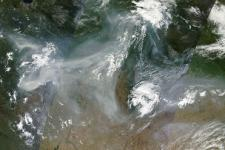 2010 Russian wildfires captured by MODIS (NASA)