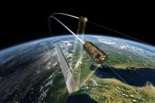 The double satellite formation TerraSAR-X/TanDEM-X will be one of the issues presented at the ISRSE-36 (Image: DLR)