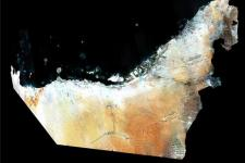 Satellite image of UAE by DubaiSat-1 (Image: EIAST)