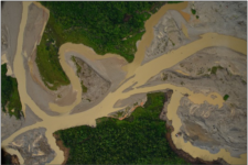 Opencast mining image in the north-eastern of Antioquia, Colombia (Image: IGAC/CIAF)