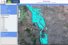 The Bhuvan Ganga web portal provides geospatial data such as flood annual layers (Image: NRSC)