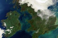 Great Britain and Ireland satellite picture (Image: ESA)