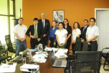 Representatives of Ministries and UN-SPIDER during the Expert Mission to El Salvador