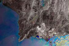 Satallite image of the city of Karachi (Pakistan) on the Arabian Sea (Image: ESA)