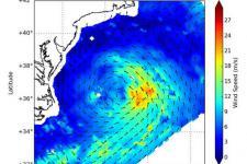 Tropical Storm Claudette measured by RapidScat (Image: NASA)