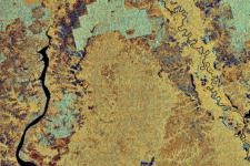 Satellite image of the Kalimantan region, which will not suffer drought in 2015 (Image: ESA)