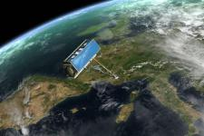 TerraSAR-X satellite monitoring Europe (Image: ESA)