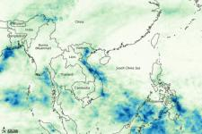 Heavy rainfall in Vietnam between October and November 2008 (Image: NASA)