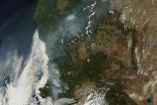 Wildfires blazing in North California (Image: NASA)