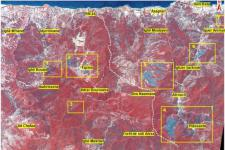 Image of the areas affected by forest fires captured by Alsat-2A (Image: ASAL