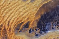 Satellite image of the water-scarce Sahara desert in Algeria (Image: ESA)