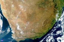 True-colour MODIS satellite image of South Africa (Image: NASA)