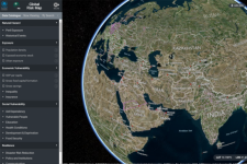 The Global Risk Map shows information on countries highly exposed to natural hazards