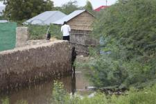 Homes flooded after river Shabelle ran over in Belet Weyne Capital City of Hiran, Somalia. Image: Ahmed Qeys.