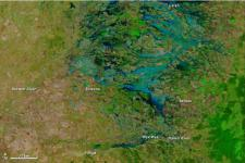 NASA's Terra satellite image of flooded communities in Australia
