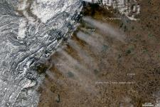 NASA's Terra satellite image shows the impact Ural has on weather developments