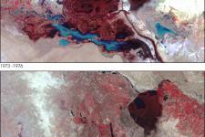 Landsat satellite shows the vanishing wetlands in the Arab Region