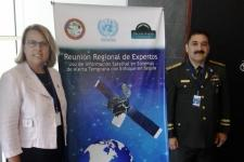 Mrs Simonetta Di Pippo, Director of UNOOSA, and Mayor General Rafael De Luna Pichirilo, President of the National Emergency Commission of the Dominican Republic.