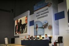 Panel at the First Multi-Hazard Early Warning Conference (MHEWC-I): Saving Lives, Reducing Losses in May 2017 in Cancun, Mexico. Image: UN DRR / CC BY-NC-ND 2.0.