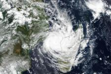 The Visible Infrared Imaging Radiometer Suite (VIIRS) on the Suomi NPP satellite acquired this image of the cyclone on March 11, 2019, as it spun across the Mozambique Channel. Image: NASA.